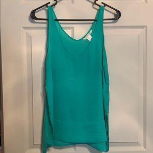 Turquoise Sheer HM tank blouse